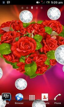 Love Rose Flower Heart LWP apk screenshot