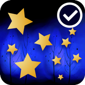 Forest Night Star Free LWP icon