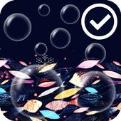 Bubble Underwater Art Free LWP icon