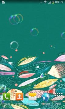 Bubble Underwater Art Free LWP apk screenshot