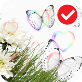 White Beauty Love Flower LWP icon