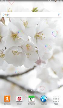 White Beauty Love Flower LWP screenshot 14