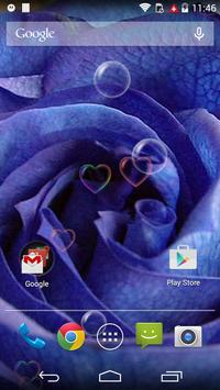 Blue Love Rose Flower LWP apk screenshot