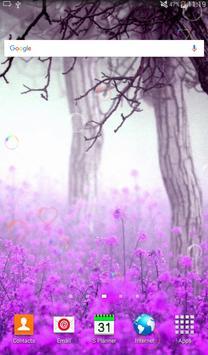 Beauty Purple Love Flower LWP apk screenshot