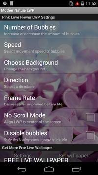 Pink Love Rose LWP apk screenshot