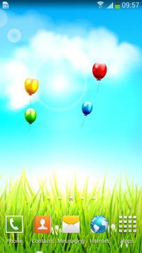 Spring Flower Balloon Free LWP screenshot 1