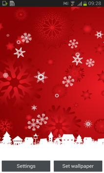 Red Snow Free Live Wallpaper screenshot 3