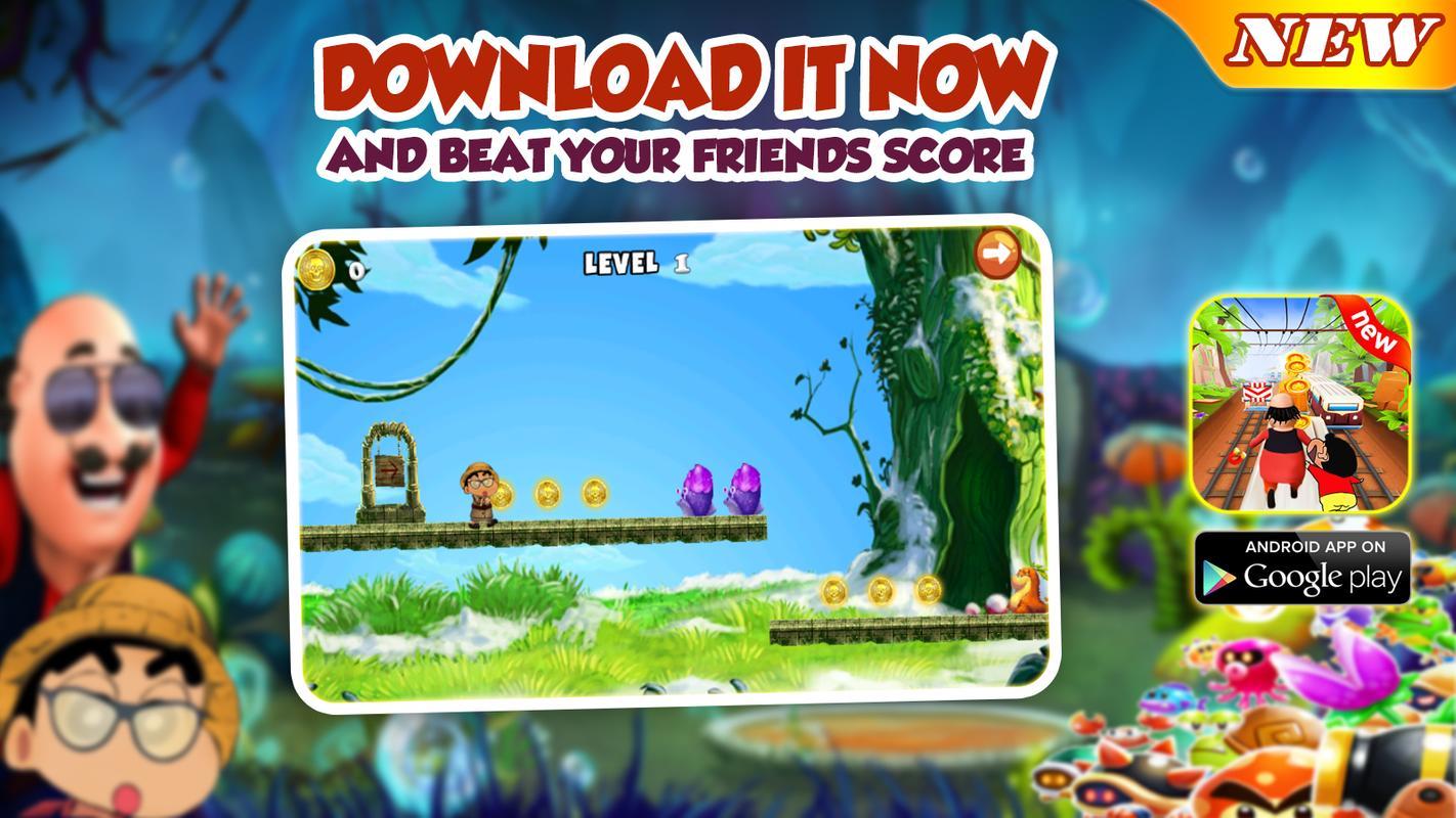 Motu Shin Patlu Running Game Dash Apk Download Free Adventure Game