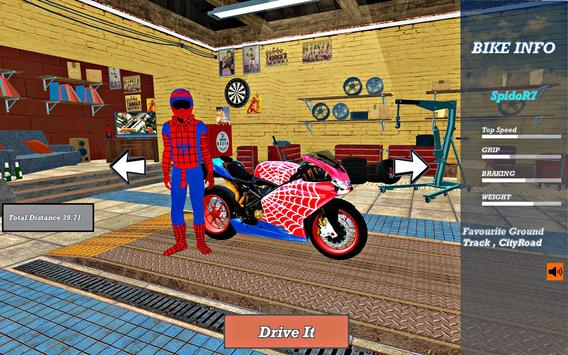 Super Hero Stunt Bike - Spider Hero Pizza Delivery screenshot 8