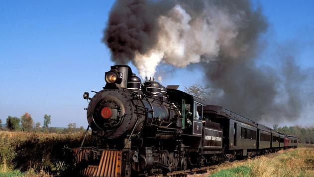 Vintage trains. LiveWallpapers poster