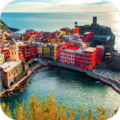 Italy coast. Live wallpapers icon