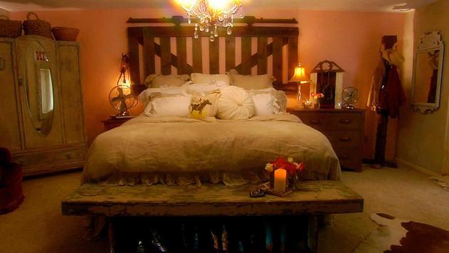 Romantic bedroom. Wallpapers poster