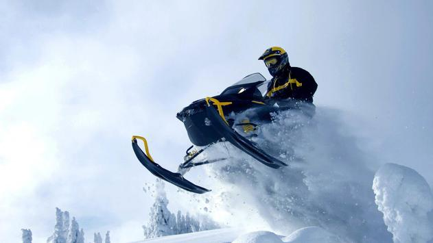 Extreme snowmobile. Wallpapers poster