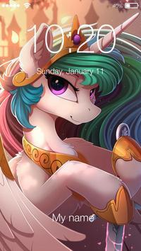 Unicorn Art Pin Lock Screen Security poster