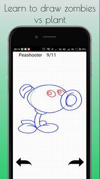 Learn to draw zombies vs plant apk screenshot