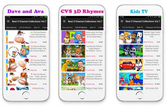 Top 9 Channels Nursery Rhymes poster