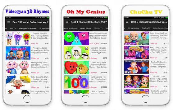 Top 9 Channels Nursery Rhymes screenshot 1
