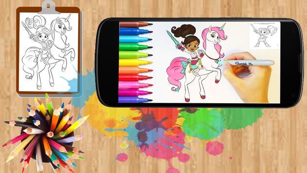 Nella the princess coloring BOOK poster
