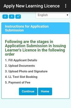 Apply New Learning Licence poster
