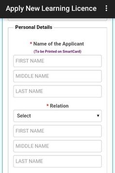 Apply New Learning Licence screenshot 5