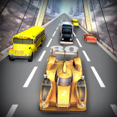 Racing games:car racer icon