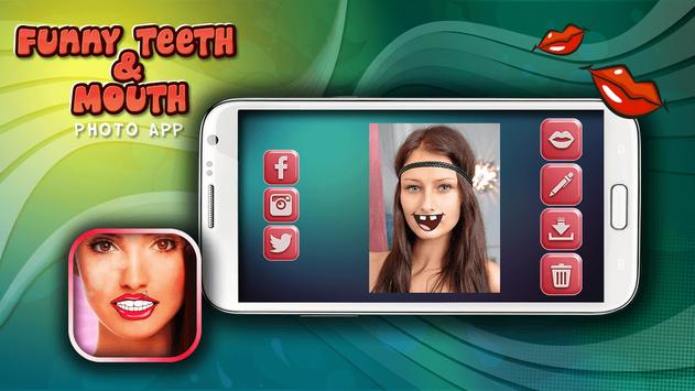 Funny Teeth & Mouth Photo App poster