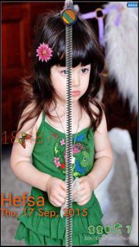 Photo and Name zip screen Lock apk screenshot