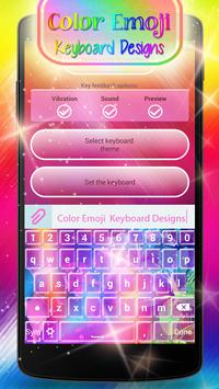 Color Emoji Keyboard Designs apk screenshot