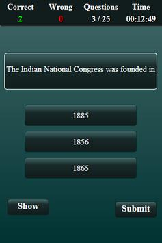 Indian National Movement Quiz screenshot 3
