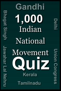 Indian National Movement Quiz poster