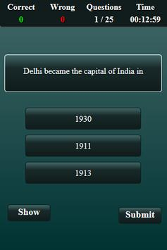 Indian National Movement Quiz screenshot 1