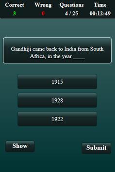Indian National Movement Quiz screenshot 4