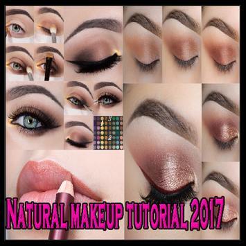 Natural makeup tutorial poster