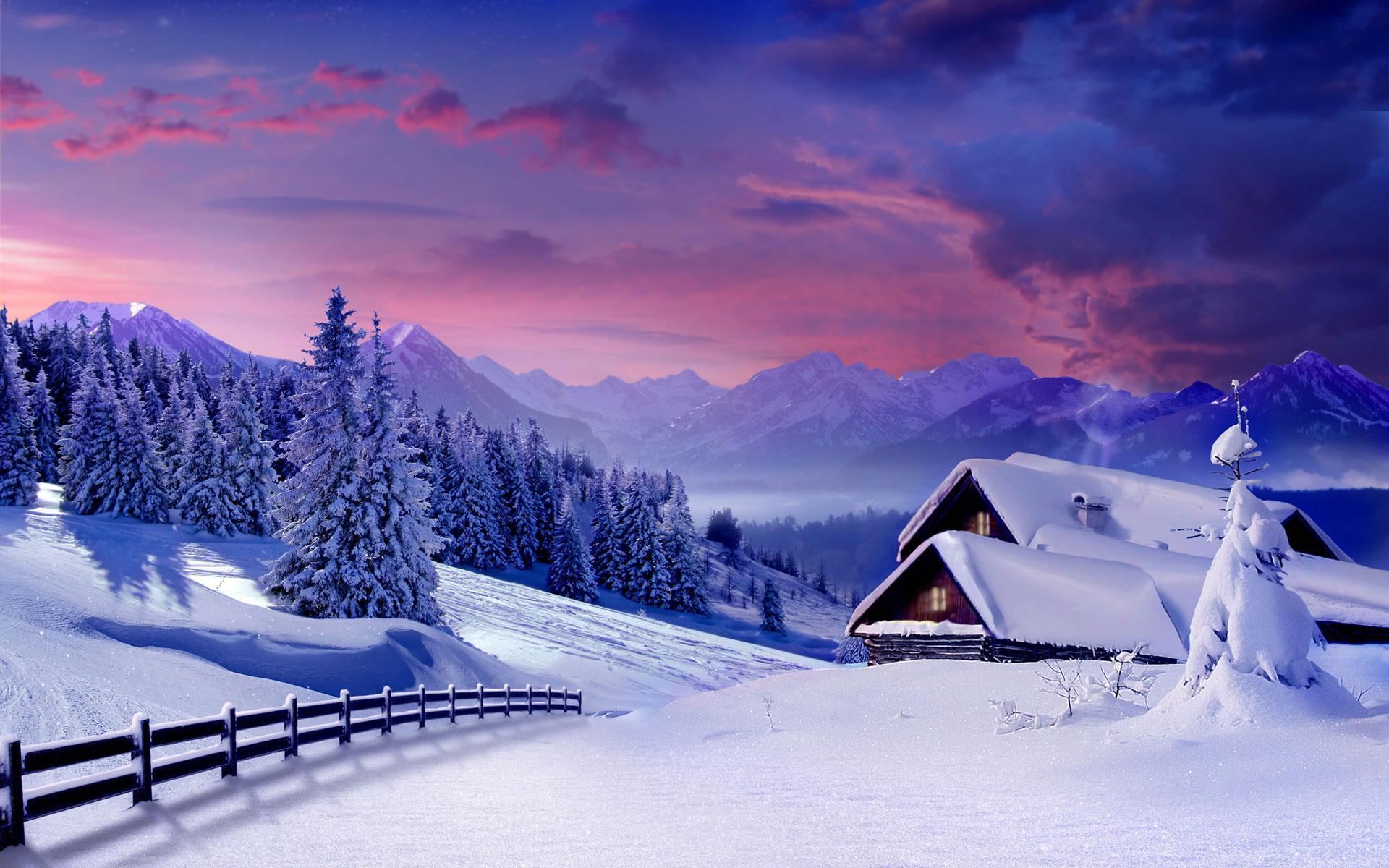 Зима снег пушистый обои