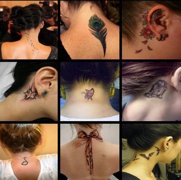Neck Tattoo For Girl Ideas screenshot 10