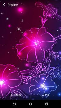 Neon Flower Live Wallpaper apk screenshot