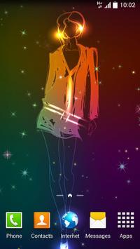 Neon Cute Girl Live Wallpaper apk screenshot