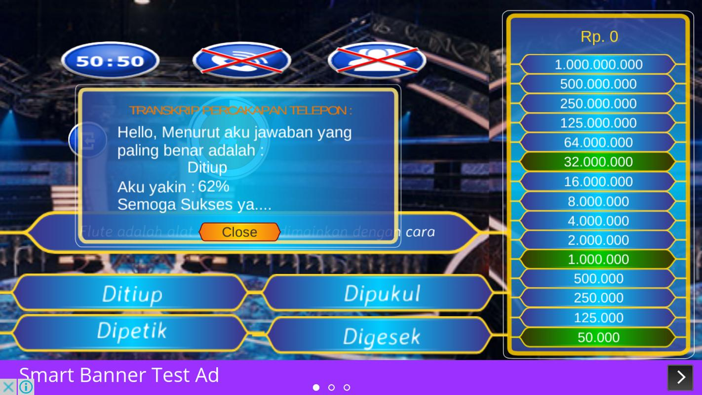 Kuis Milioner Indonesia For Android Apk Download