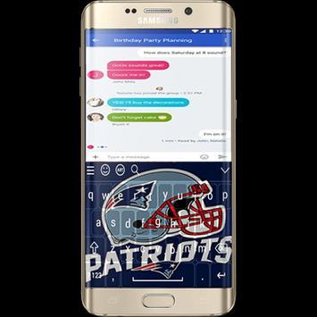New England Patriots Keyboard screenshot 1