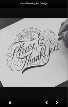 Hand Lettering Design apk screenshot