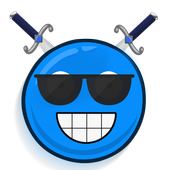 blue ball 6 groovy icon