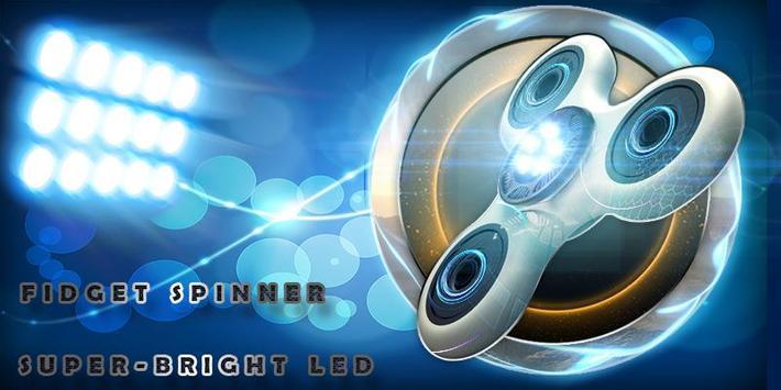 Fidget Spinner Super-Bright LED poster