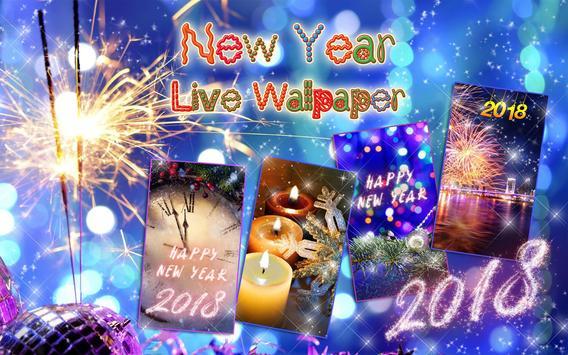 Happy New Year Wallpaper 2018 - Holiday Background apk screenshot