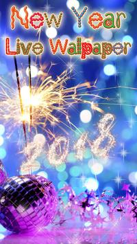 Happy New Year Wallpaper 2018 - Holiday Background poster