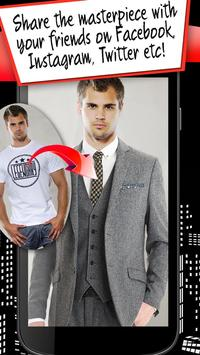 New York Men Suit Photomontage apk screenshot