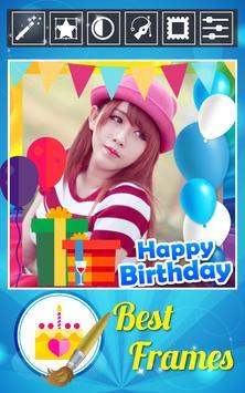 Happy Birthday Photo Editor+ poster