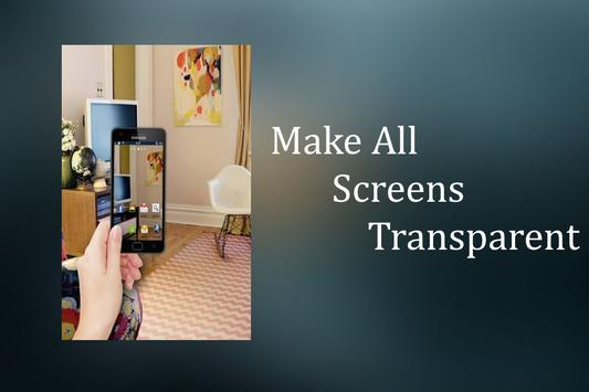 Transparent Wallpaper Camera Poster Apk Screenshot
