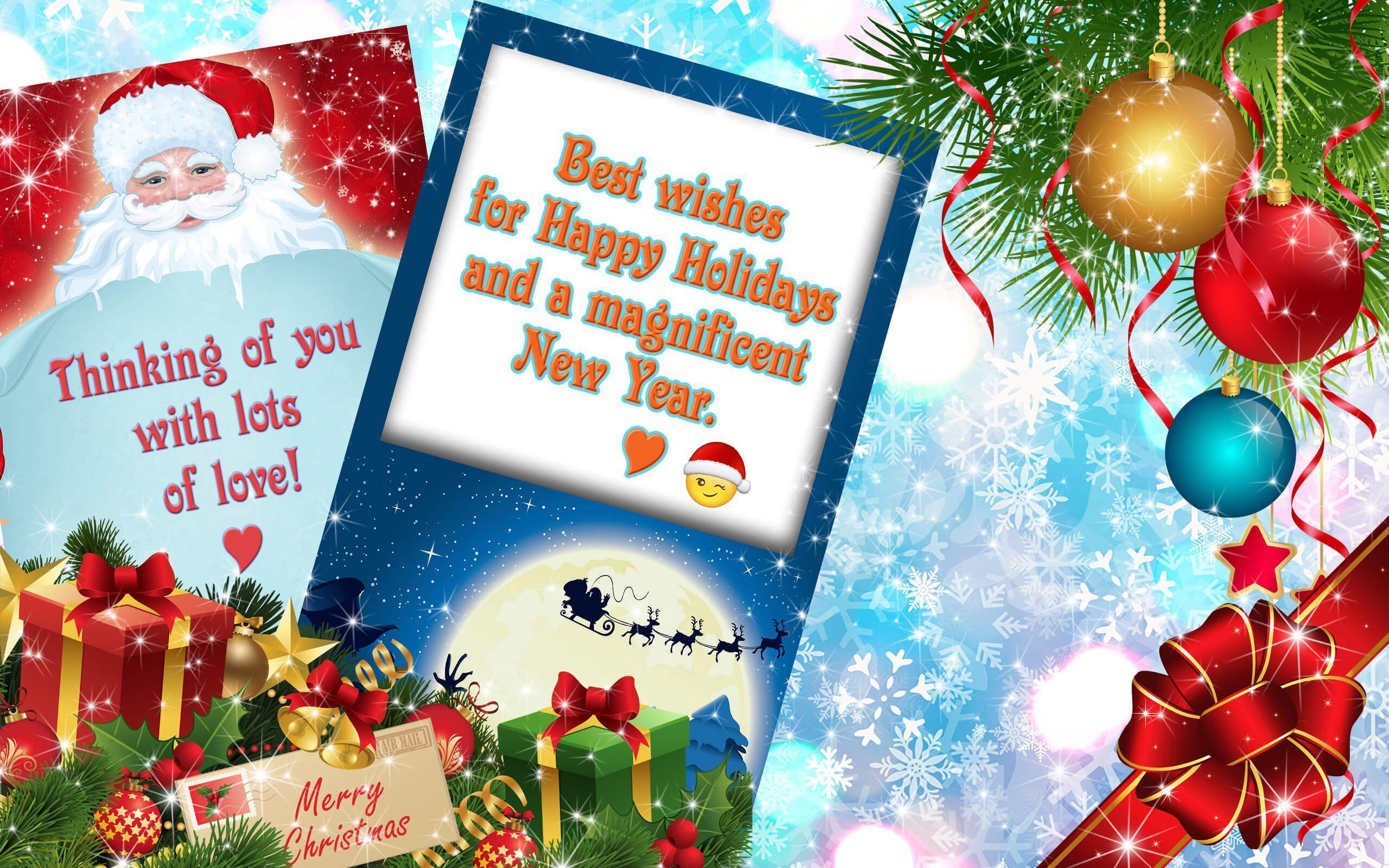 Weihnachtskarten Senden Kostenlos.Weihnachtskarten Neujahrsgrüße Kostenlos Für Android Apk