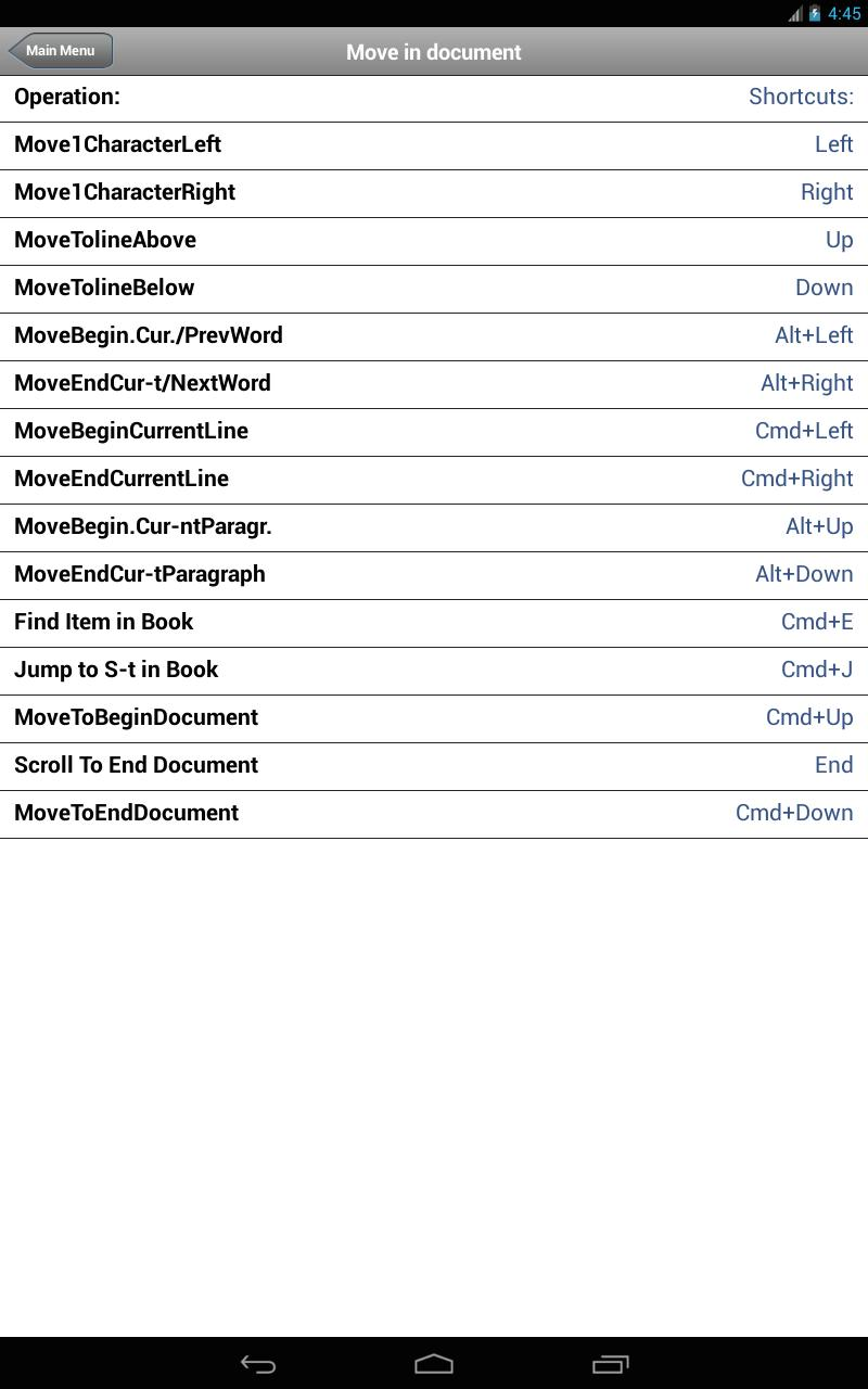 Shortcuts for iBooks Author for Android - APK Download