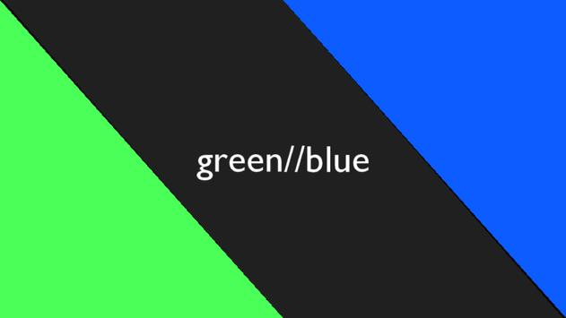 green//blue poster